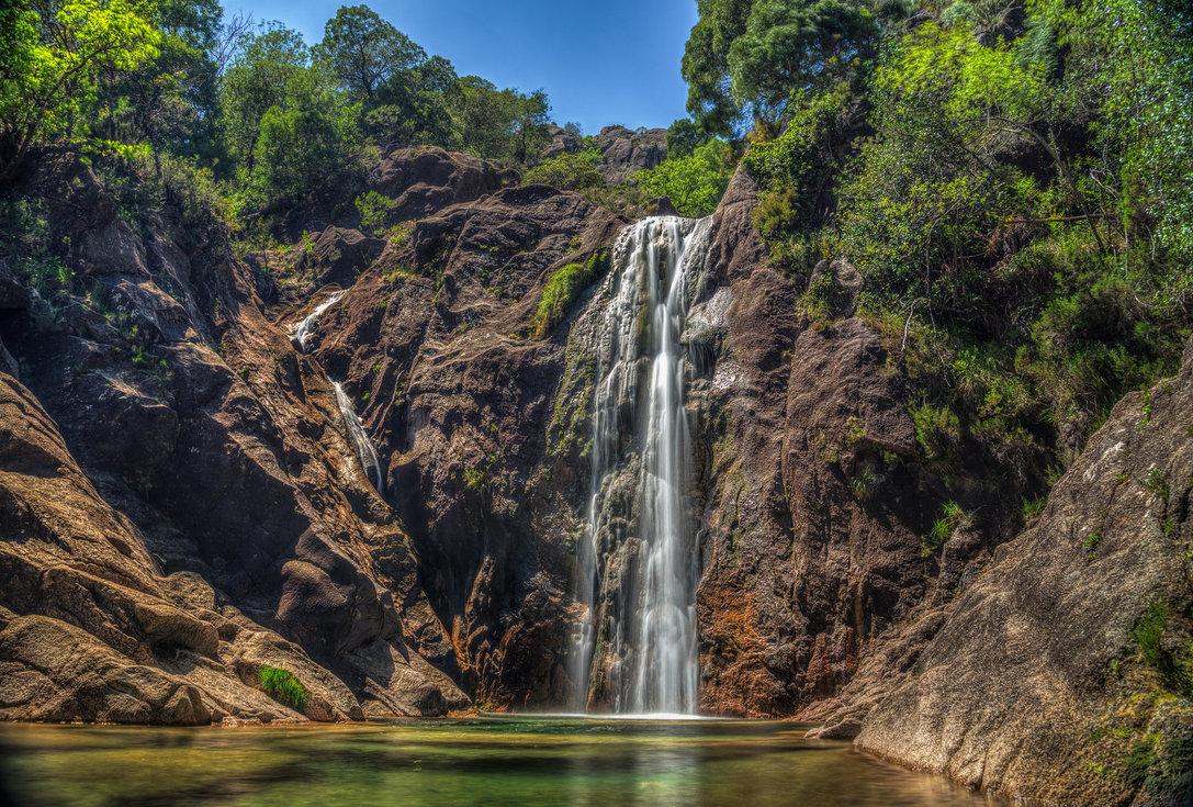 Arado Waterfall in Peneda Geres National Park